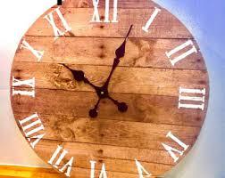 barn wood wall clock etsy