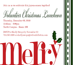 christmas lunch invitation beganwithabow volunteer christmas invitation