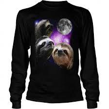 Three Wolf Moon Shirt Meme - sloth three wolves moon parody meme gift ideas t shirt