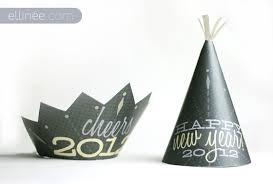 diy new year u0027s party hats the elli blog