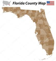 Map Florida Counties by Florida County Map U2014 Stock Vector Malachy666 42905799