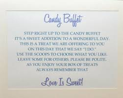 Wedding Buffet Signs by 143 Best Wedding Candy Buffets Images On Pinterest Wedding Candy