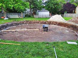 Sand For Backyard Easy Way To Level Ground For Pool The Mister Pinterest