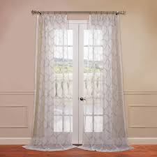 Embroidered Sheer Curtains Florentina Silver Embroidered Sheer Curtains Drapes
