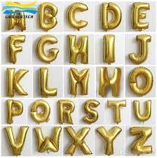alphabet balloons balloons for wedding silver gold alphabet letters helium balloons