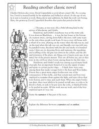 reading comprehension david copperfield reading activities