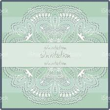 Wedding Invitations Cards Design Abstract Background Lacy Frame Border Pattern Wedding Invitation