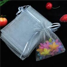 small organza bags wholesale 500pcs lot drawable gray small organza bags 9x12 cm