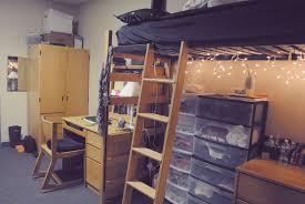 traditional wooden dorm room furniture set with loft bed aside