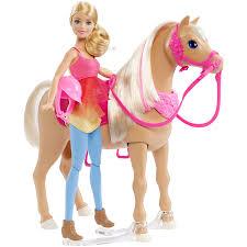 barbie dancin u0027 fun horse and doll set