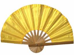 asian fan asian fans yellow bamboo fan