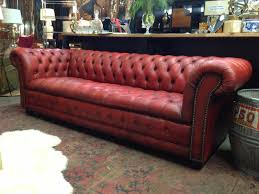 Chesterfield Leather Sofa by Sofa 33 Interior Long Red Leather Sectional Sofa With Back