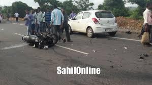 rider seriously hurt in car bike accident on kumta nh 66 sahilonline