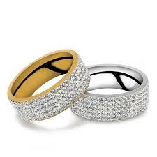 wedding rings uk gorgeous 5 row silver gold unisex wedding ring size us 6