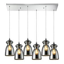Blown Glass Mini Pendant Lights by Shop Westmore Lighting Alvingham 30 In Polished Chrome And Mercury