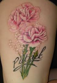 carnation flower tattoo images in black carnation tattoo