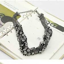 chunky necklace pendants images Necklace korean multi layer chain necklaces women jewelry crystal jpg