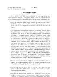 Example Of Legal Letter by Counter Affidavit Sample Public Law Government