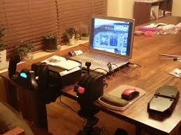 Flight Sim Desk My Flight Sim Setup Update U2013 The Plane Geek