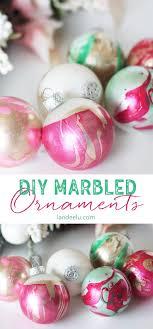 diy ornaments marbled dipped awesomeness landeelu