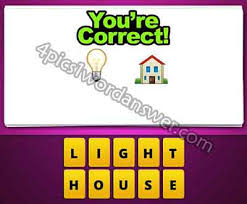 house emoji guess the emoji light bulb and house 4 pics 1 word game answers