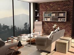 ideas for a small living room living room blue wall white fabric sofa black coffee table white