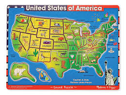 usa map doug usa map sound puzzle wooden puzzle