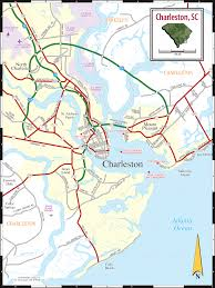 Sc Metro Map by Charleston Sc Map