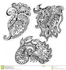 hand drawn doodle element in vector ethnic zentangle design b