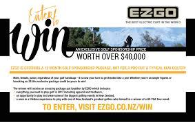 The Winner Of New Zealand by Ezgo Launch Elite Golf Car U2014 Golfer Pacific New Zealand