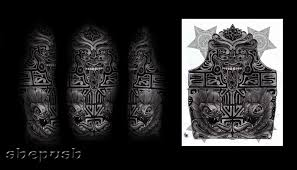 aztec half sleeve by shepush on deviantart