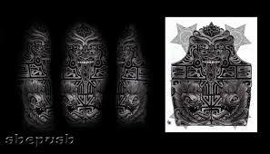 aztec half sleeve by shepush on deviantart