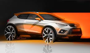 four wheels seat arona design sketches