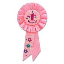 1st birthday girl 1st birthday girl satin award ribbon