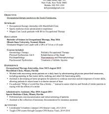 Occupational Therapy Resume Template Stunning Inspiration Ideas Occupational Therapy Resume 15