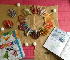 making a thanksgiving turkey how to fold an origami turkey and make a thanksgiving wreath and