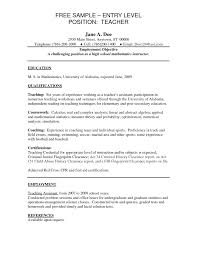 resume teachers resume exles objectives visual a resume