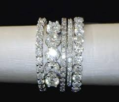 stackable diamond rings best 25 stacked wedding rings ideas on stackable