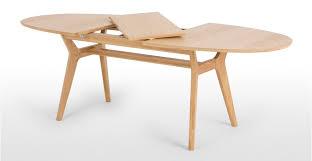 Dining Table Oak Jenson Oval Extending Dining Table Oak Made