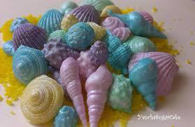 the sea baby shower decorations edible fondant seashells 50 or 100 pcs wedding shower summer sea