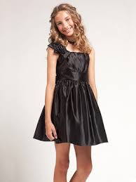 black ruched top bodice girls formal dress only available in