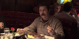 thanksgiving dinner as told by swanson