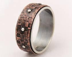 steunk engagement ring rustic wedding ring etsy