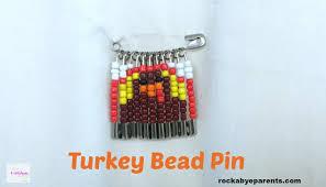 thanksgiving pin turkey bead pin an easy thanksgiving kid craft