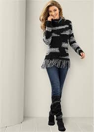 sweaters u0026 sweatshirts knit ribbed fringe u0026 lace venus