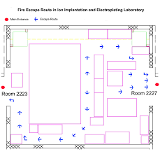 Fire Evacuation Route Plan by Evacuation And Emergency Escape Route Nanosystem Fabrication