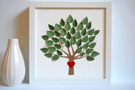 house decor idea framed paper tree of modern