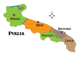 provinces of italy map puglia maps and travel guide wandering italy