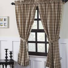 Country Curtains Sturbridge Plaid by Sawyer Mill Short Lined Panel Curtains Country Curtains