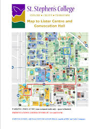 lister centre and convocation hall maps st stephens college